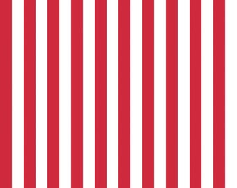 3629ad7c5bc SALE Red and White 1 2 Half Inch Stripe by Riley Blake Designs - Patriotic  Independence - Quilting Cotton Fabric - choose your cut