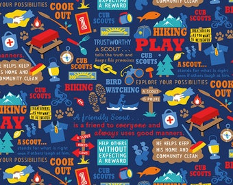 Boy scout fabric   Etsy
