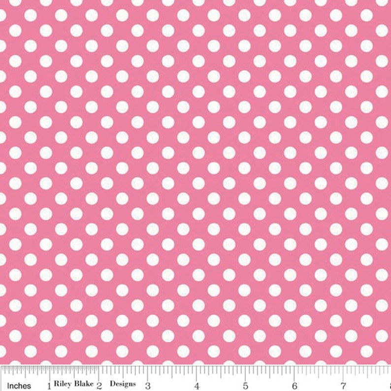 18aace09763 SALE Hot Pink and White Small Polka Dot Riley Blake Designs | Etsy