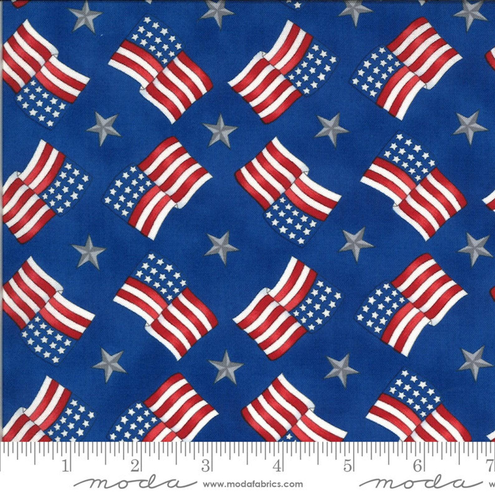 america the beautiful flags stars 19986 lake blue moda  etsy