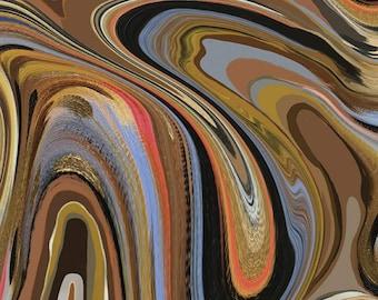 SALE KNIT Marble KD11240 Brown  - Riley Blake Designs - Etta Vee - Swirls - Digitally Printed Jersey KNIT Cotton Stretch Fabric