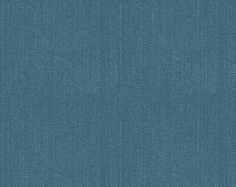 SALE Lucky Star Denim Navy by Riley Blake Designs - Blue - Jersey KNIT cotton lycra spandex stretch fabric - choose your cut