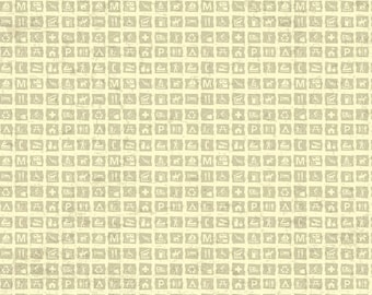 SALE National Parks Signs Cream - Riley Blake Designs - Recreation Outdoors Icons - Quilting Cotton Fabric