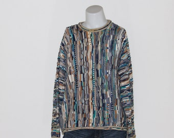 Tundra Vtg 90's Multicolored Hip Hop 3D Mercerized Size XL Men's Cosby Sweater BGsNIF