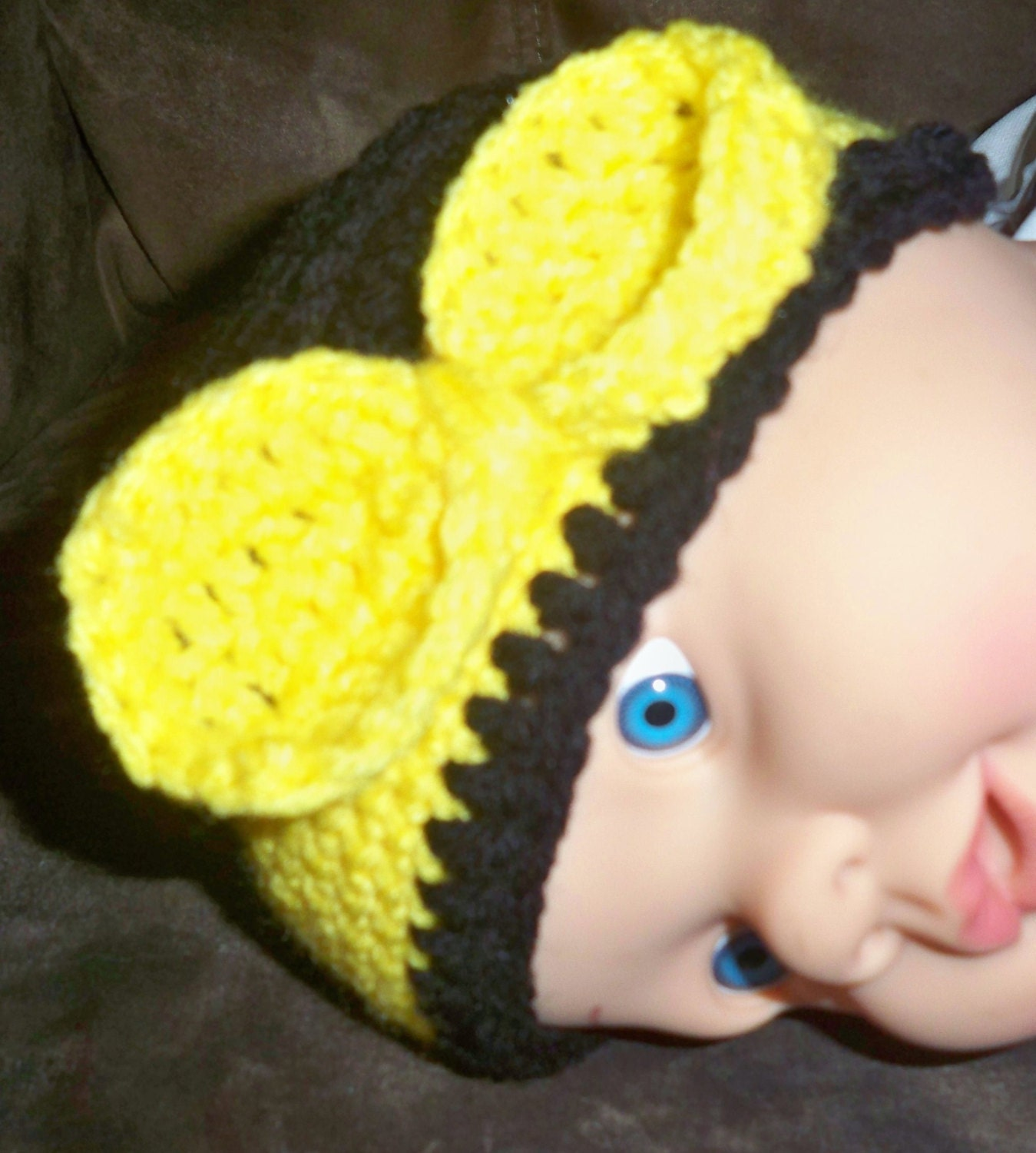 Crochet Bumble Bee Hat And Diaper Cover Pattern Etsy