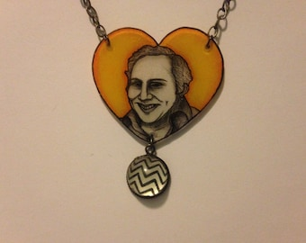 ShrinkyDink Necklace ~ Blood ~ Gore ~ True Crime ~ Death ~ NYC ~ 70's