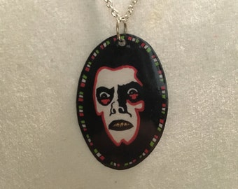 Alternative necklace choker Gothic The Exorcist pendant necklace Horror movie fan jewellery Cult Classic