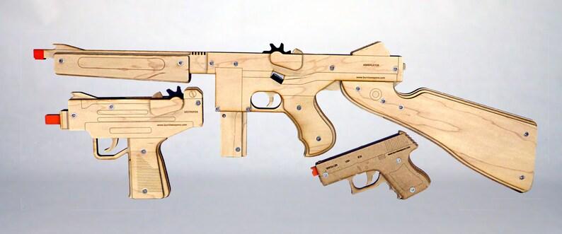 Burnt Weapons Triple Threat Rubber Band Gun Pack