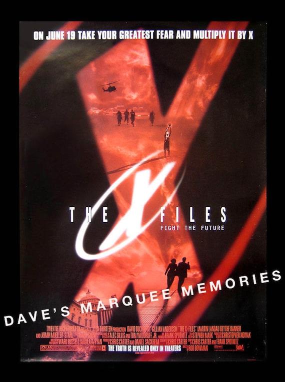The X Files Original Movie Poster 1998 Plus Free Bonus Dvd Etsy