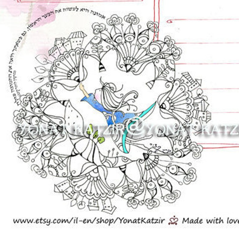 Daily organizer to do list, DIY A4 daily planner, Time Management, coloring  day planner, home management, Mandala girl for coloring
