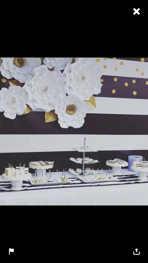 Cake Table Backdrop Paper Flowers Bridal Shower Backdrop Etsy