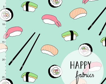 Sushi, Mint - HPY Jersey Knit Fabric