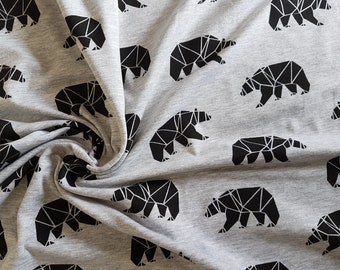 Bears, Cotton Lycra Jersey Knit Fabric