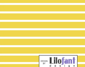 Yellow Stripes - Lilofant Organic Cotton Lycra Jersey Knit Fabric