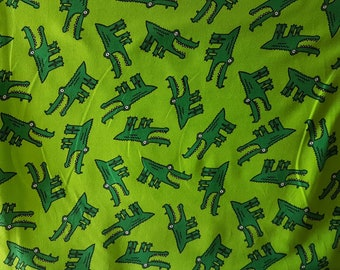 Crocodiles , Cotton Lycra Jersey Knit Fabric