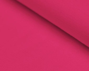 Fushia Pink Ribbing Stretch fabric for cuffs and waistbands