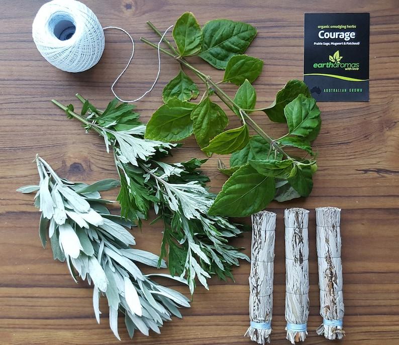 Australia's Best Smudge Stick - Courage Blend - Prairie Sage, Mugwort and  Patchouli - Australian Grown Organic