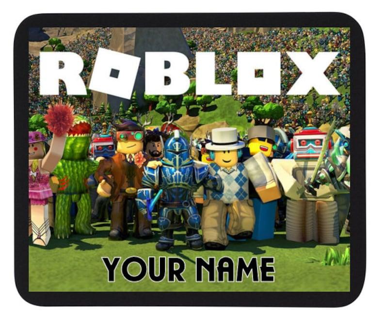 Personalised Custom name ROBLOX Gaming Mouse Mat / PAD - PC/Laptop