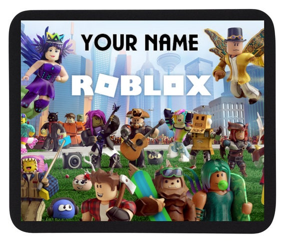 How To Zoom Out On Roblox Computer Personalised Custom Name Roblox Game Mouse Mat Pad Etsy