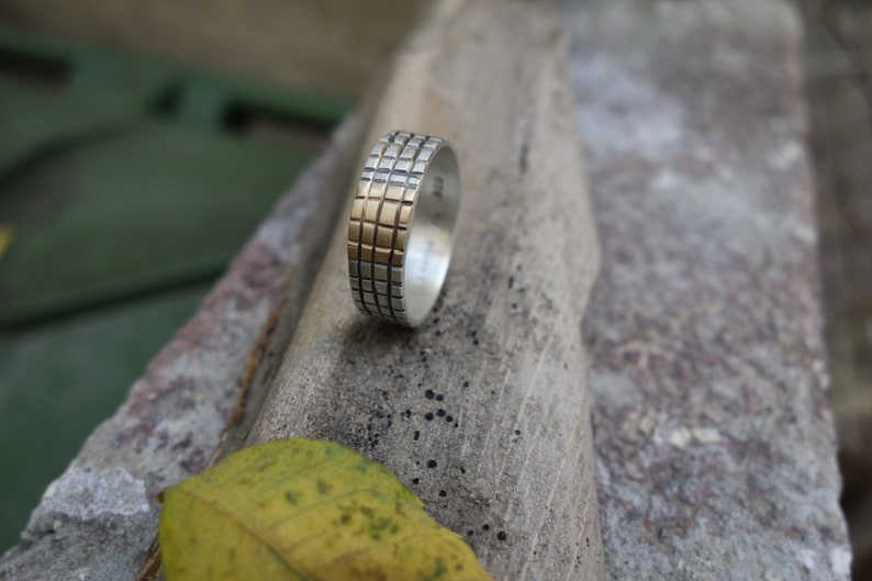 MEN/'S WEDDING BAND Engagement Ring Promise Ring Traditional Ring Comfort Fit Custom Engraved Jewelry Silver /& Gold Unique Handmade Bridal