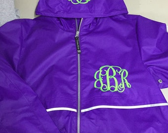 Charles River Raincoat FREE Monogram left chest and hood