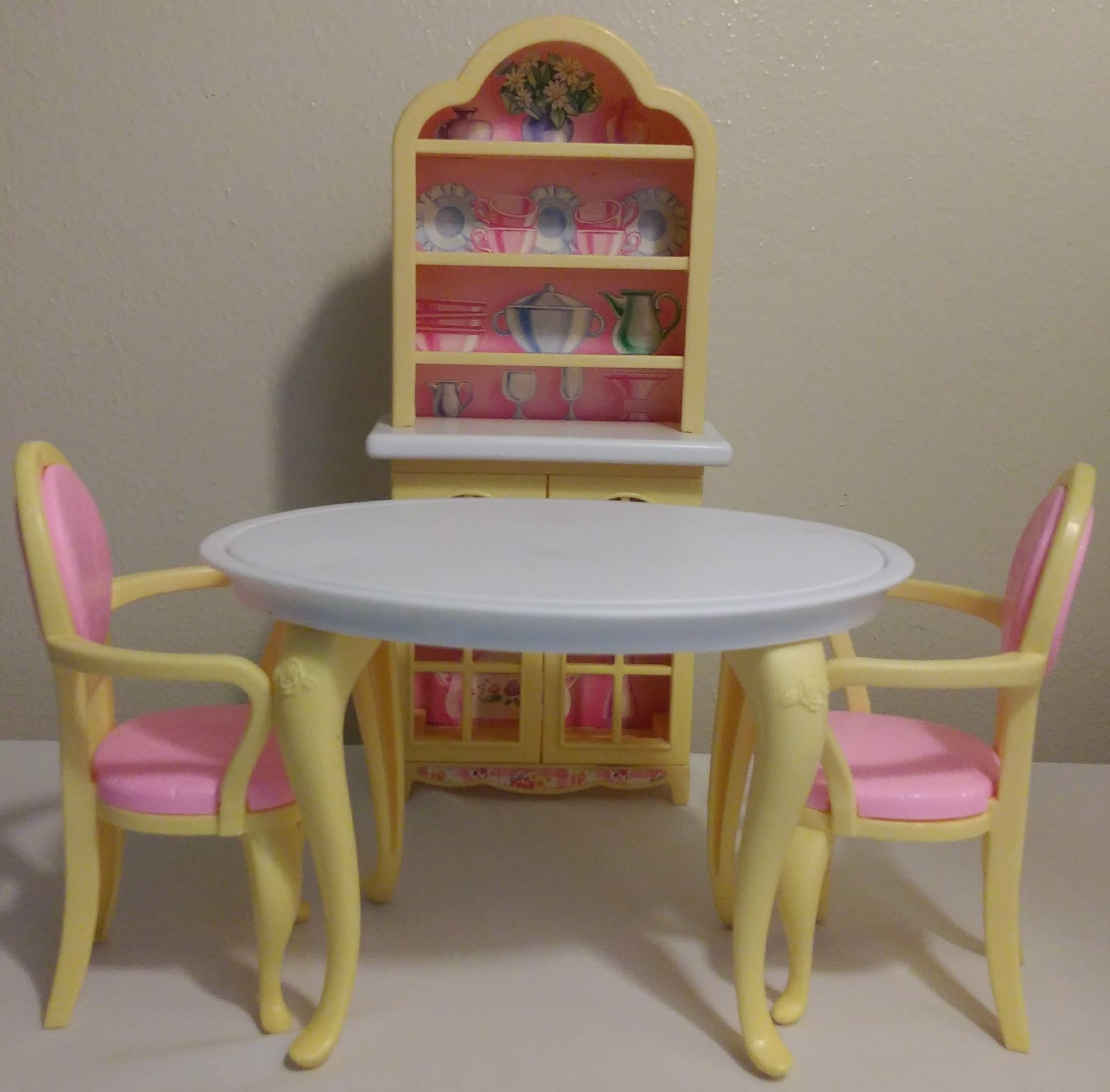 1996 Barbie Pretty Folding House Dining Table