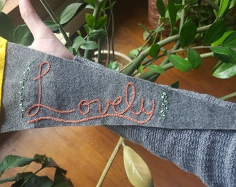 Lovely Hand Embroidered Pennant