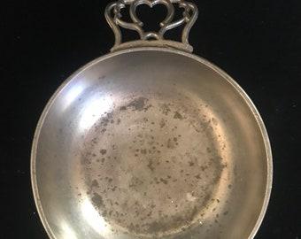 Vintage Wilton Pewter Porridge Bowl Double Handles Trinket Candy Dish Bicentennial Seal PanchosPorch