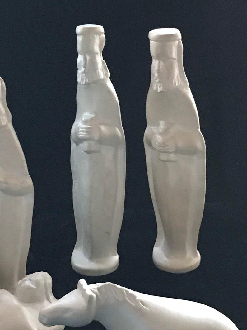Vintage hand carved soapstone nativity scene set of 10 pieces.
