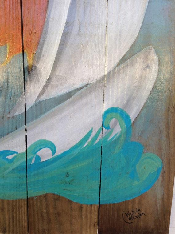 Pintura Al Aire Libre Terraza Reciclado Madera Colgante De Pared Para Porche