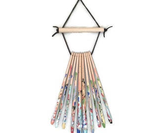 Paint Brush Dream Catcher - Dreamcatcher - Painted - wood - Modern Dreamcatcher - modern dream catcher
