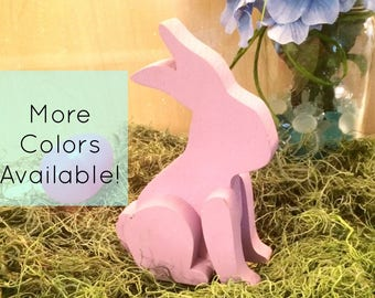 Bunny Decor - Easter Bunny - Easter Bunny Decor - Easter Decor - Wood Easter Bunny - Spring Decor - Pastel Easter Bunny - Handmade Easter De