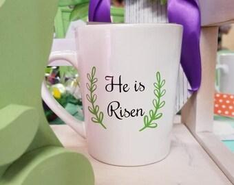 He Is Risen Mug - He Is Risen Easter Mug - Easter Coffee Mug - Religious Easter Mug - Religious Easter Gift