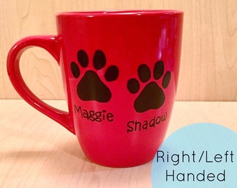 de38eaefe2f Paw Print Mug - Pet Mug - Pet Name Mug - Pet Paw Print Mug - Sharpie Mug - Paw  Print Sharpie Mug - Customizable sharpie mug