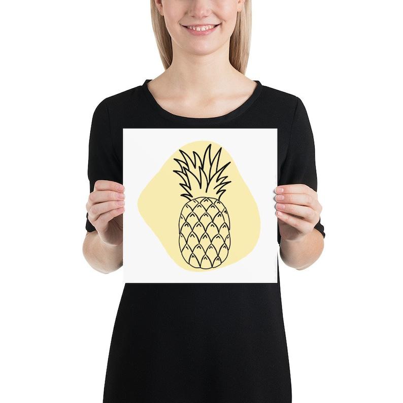 Minimalist Pineapple Art Print Pineapple Wall Decor image 0