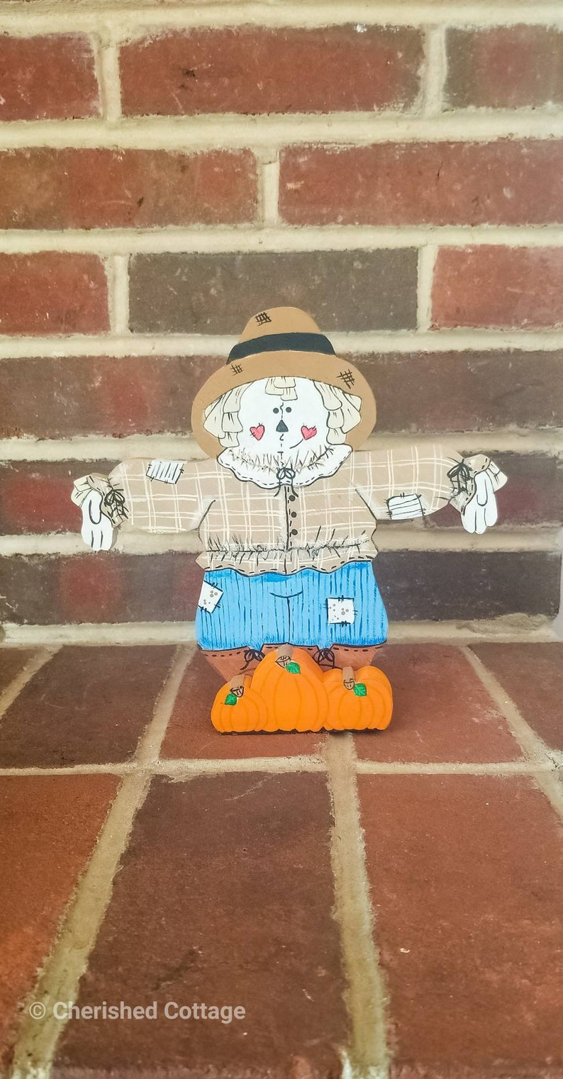 Wooden Scarecrow Decoration Fall Scarecrow Decoration image 0
