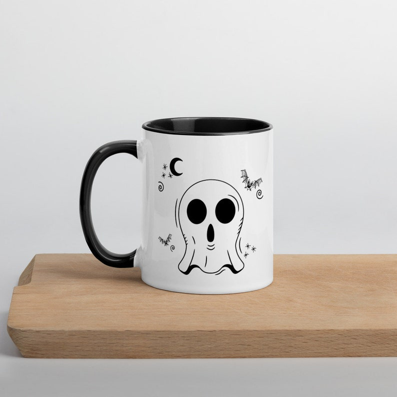Ghost Mug Cute Ghost Mug Halloween Ghost Mug Spooky Ghost image 0