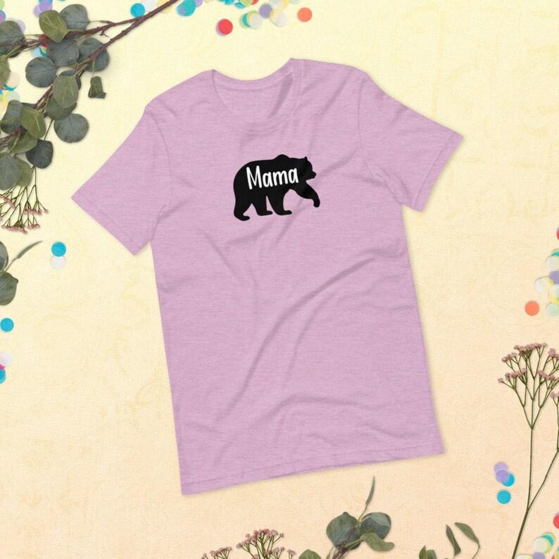 Mama Bear Pastel T Shirt Mother's Day T Shirt Mama Bear image 0