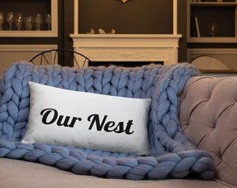 Our Nest Rectangle Pillow, Bless our Nest, Our Nest Master Bedroom Pillow, Our Nest Living Room Pillow, Accent Pillow
