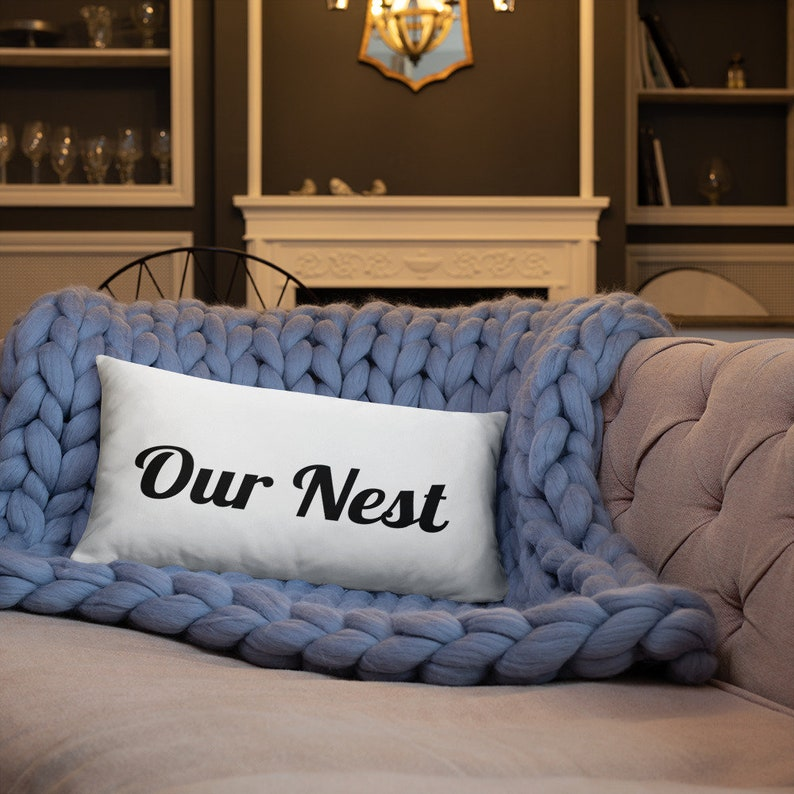 Our Nest Rectangle Pillow Bless our Nest Our Nest Master image 0