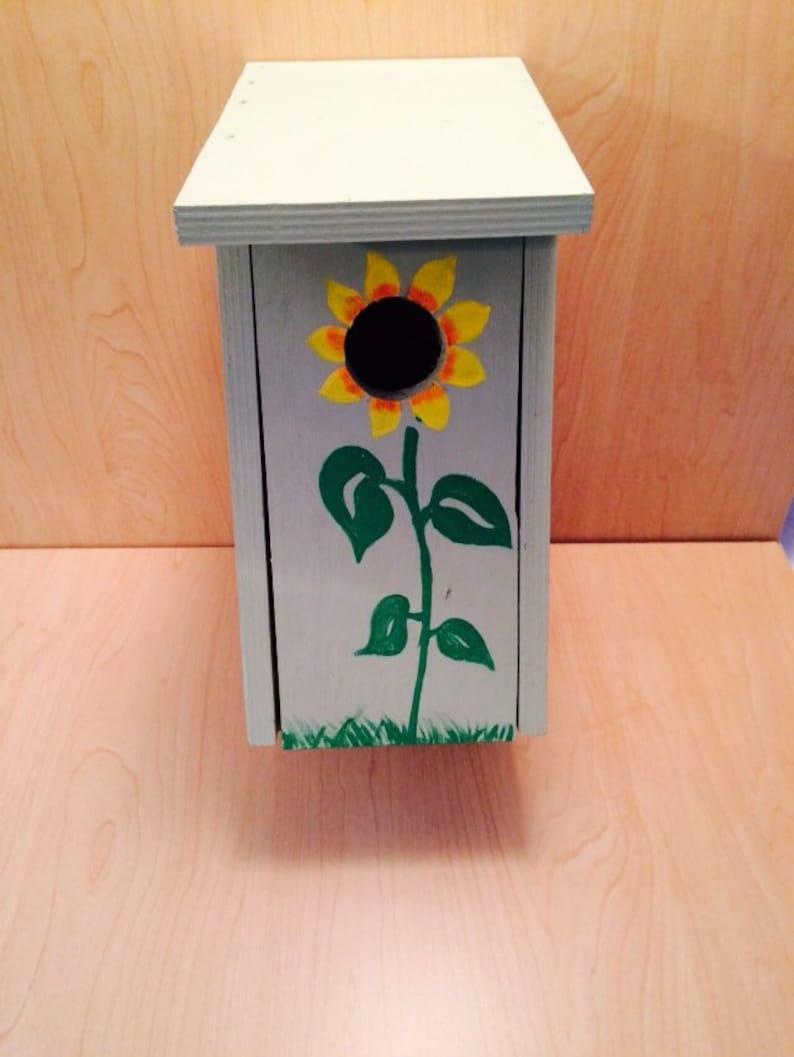 Sunflower Birdhouse  Outdoor Birdhouse  Mothers day image 0