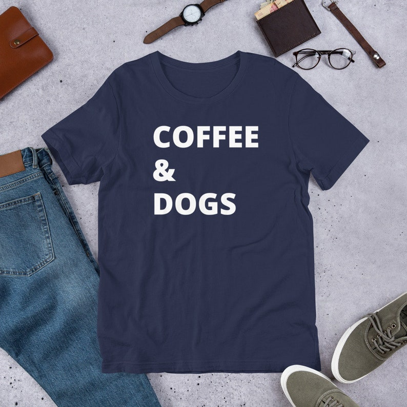 Coffee and Dogs Short-Sleeve Unisex T-Shirt image 0