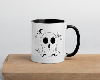 Left Handed Ghost Mug, Left Handed Halloween Mug, Cute Ghost Mug, Ghost Mug,