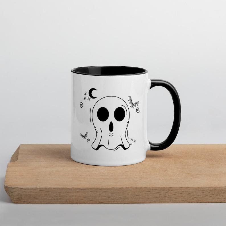 Left Handed Ghost Mug Left Handed Halloween Mug Cute Ghost image 1