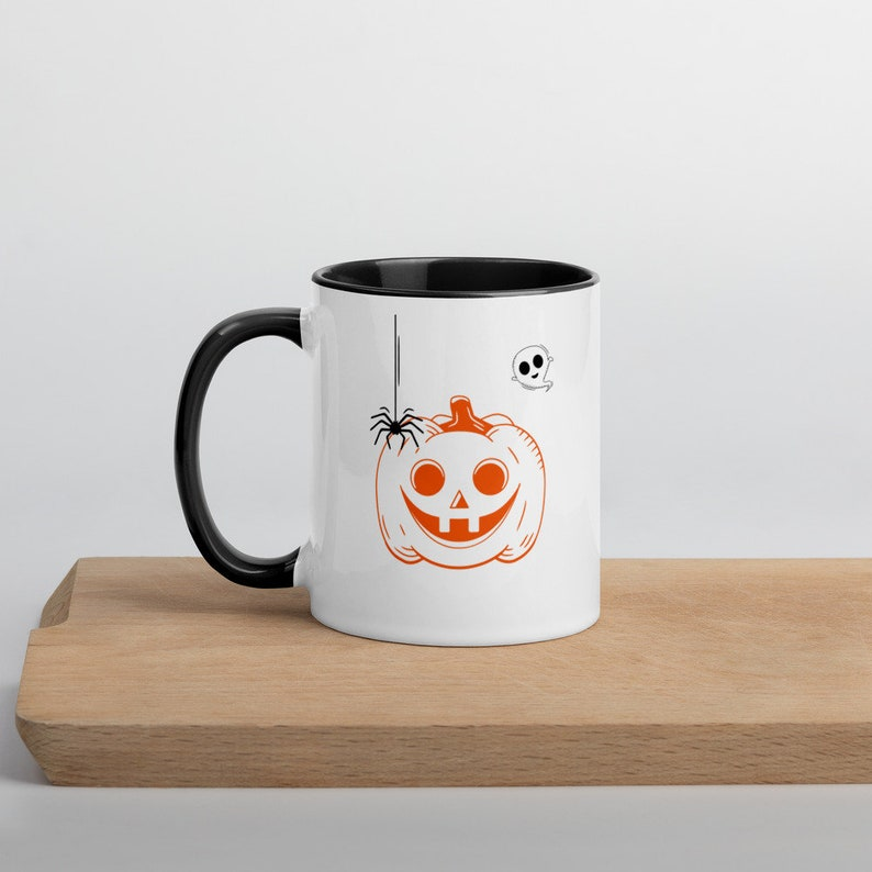 Pumpkin and Ghost Mug Halloween Pumpkin Mug Jack O Lantern image 1