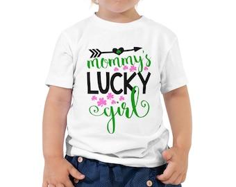 Mommy's Lucky Girl St Patricks Day Toddler Short Sleeve Tee