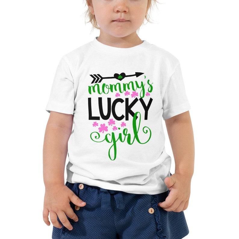 Mommy's Lucky Girl St Patricks Day Toddler Short Sleeve image 0
