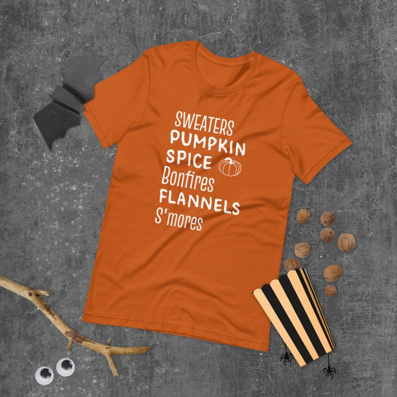 Bonfires Pumpkin Spice Flannels Sweaters Smores T Shirt Fall image 0