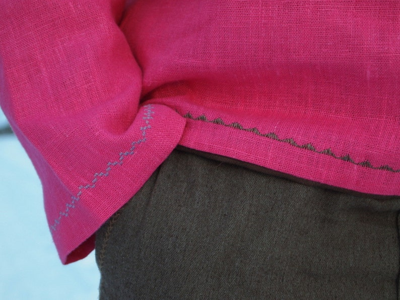 Pure linen men/'s shirt Altai  rustic shirt  embroidered ethnic shirt