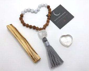 Japa Mala Prayer Beads, Self-Care Box, Spiritual Practice Tools, Handmade Mala Beads